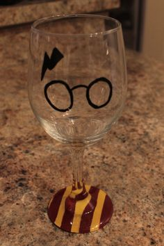 Harry Potter Wine Glass, Potter Head Wine Glass by TheSipShop on Etsy https://www.etsy.com/listing/218423540/harry-potter-wine-glass-potter-head-wine