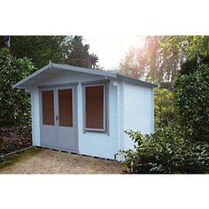 The Berryfield Log Cabin offers an economical quality of space benefitting from the three quarter length doors & window. The position of these can be reversed. Tongue And Groove Timber, Garden Log Cabins, Roof Boards, Apex Roof, Roof Shapes, Glass Roof, Shed Storage, Animal House, Double Doors