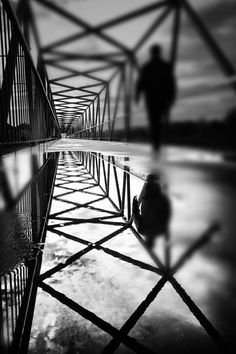 One Step Closer by Paulo Abrantes on ● Black & White Photography Line Photography, Shadow Photography, Reflection Photography, Urban Photography, Street Photography, Straight Photography, Photography Ideas, Museum Photography, Photography Names