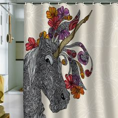 @ashley rasco A unicorn shower curtain!