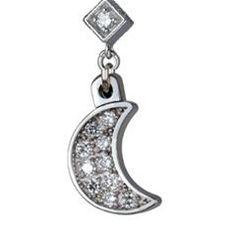 Diamond Charm Necklace Bracelet Moon