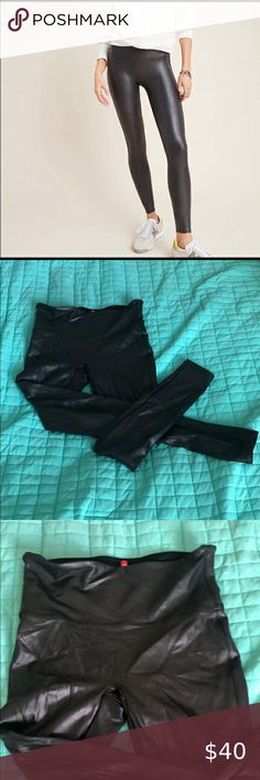 Spanx Faux Leather leggings size M Excellent condition  Size M SPANX Pants & Jumpsuits Leggings