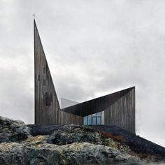 Conceitos Contemporâneos | Design Set - Live For Inspiration // O Reiulf Ramstad concorre pela terceira vez consecutiva ao Mies van der Rohe Award 2015. Desta vez, com dois dos seus novos projetos: a Igreja 'Knarvik'  e as 'Cabanas Cluster'.