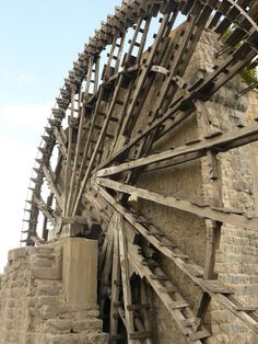 Hama, noria, water wheels.