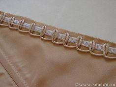 Руликовая петля из корсажного шнура