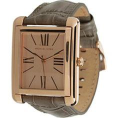 Michael Kors Women's MK2241 Grey Leather Quartz Watch with Gold Dial Michael Kors. $160.00. 50 Meters / 165 Feet / 5 ATM Water Resistant. Mineral Crystal. 35mm Case Diameter. Quartz Movement. Save 11%!