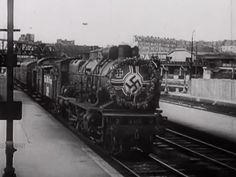 The first German military transport train enters the North Station in Paris, June 1940.