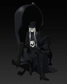 Kuroshitsuji - Undertaker: anime, manga, black butler, shinigami [ THIS guy... -smh- ]