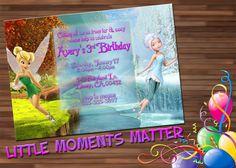 Tinkerbell y la invitación de cumpleaños de por LittleMomentsMatter