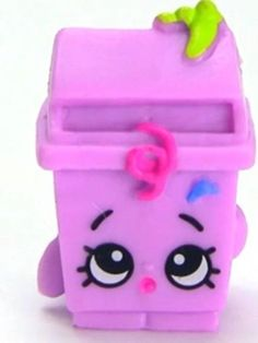 NEW Shopkins Season 2 #2-032 Purple Lisa Litter Shopkin Trash Garbage Figure #Shopkins