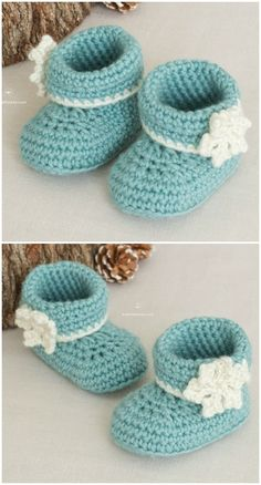 Booties Easy Crochet Booties Patterns – Free Crochet Patterns I have made a big list of most beautiful, adorable and stylish Pattern.All of these super unique and creative! Crochet Booties Pattern, Baby Booties Free Pattern, Crochet Baby Boots, Crochet Shoes, Crochet Patterns, Crochet Slippers, Crochet Ideas, Baby Boy Booties, Free Crochet