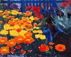 Emil Nolde,  Blue Watering Can on ArtStack #emil-nolde #art