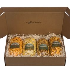 Such a cute college care package gift. There's plenty of popcorn to share with new friends in the dorm, as a study (or late night) snack. Plus it's super easy to ship!
