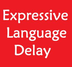 expressive language delay