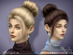 Sims 4 CC's - The Best: Hair Emily by S-Club