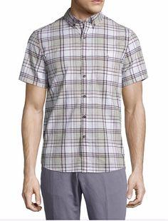 Michael Bastian Men's  Button Down Plaid Shirt Size XL Free Shipping  #MICHAELBASTIAN #ButtonFront