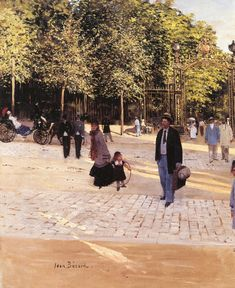 Entrance to the Park (Jean-Georges Béraud - )