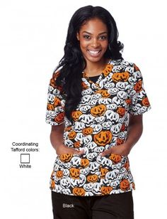 no tricks just treats with our cute selection of pumpkin halloween scrubs tafford always - Halloween Scrubs Uniforms