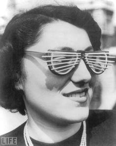 Venetian Blind Sunglasses, 1950