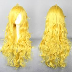 Wig Detail RWBY Yellow Yang Wig Includes: Wig, Hair Net Length - 80CM Important Information: Fitting - Maximum circumference of 55-60CM Material - Heat Resistant Fiber Style - Comes pre-style as shown