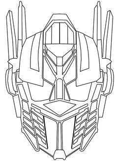 optimus prime face coloring page google search drew s birthday