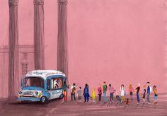 Nina Cosford: charming, vibrant editorial and reportage illustration Illustrations, Illustration Art, Heart Art, Installation Art, Pretty Pictures, All Art, Design Art, Art Gallery, Art Prints