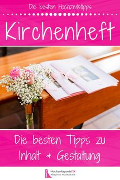 Das Kirchenheft zur Hochzeit ist gar nicht so schwer zu gestalten. Wir geben euc… The church booklet for the wedding is not that difficult. We give you helpful tips, ideas and examples for the content and the design!