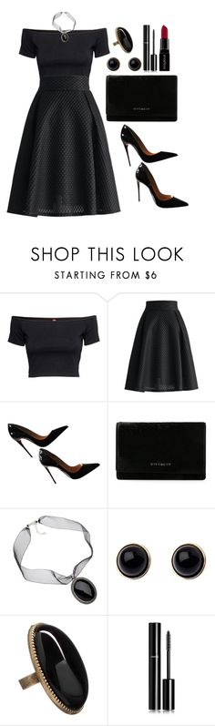 """""""Untitled #3489"""" by natalyasidunova ❤ liked on Polyvore featuring H&M, Chicwish, Christian Louboutin, Givenchy, VIcenza, Adele Marie, Betty Jackson. Black, Chanel and Smashbox"""