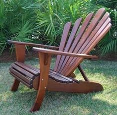Adirondack with a wider spread back rest