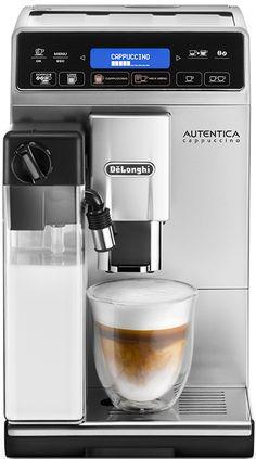DeLonghi Autentica ETAM 29.660.SB  DeLonghi Autentica ETAM 29.660.SB: Extra smalle koffiemachine met het Latte Crema systeem voor dé perfecte cappuccino De DeLonghi Autentica ETAM 29.660.SB is een volautomatische espressomachine met het LatteCrema systeem waarmee jij dé perfectecappuccino zet. Jij geniet dus niet alleen van een heerlijke kop koffie of espresso maar ook van de beste cappuccino en latte macchiato. In het 'milk menu' kies jij heel gemakkelijk uit jouw favoriete…