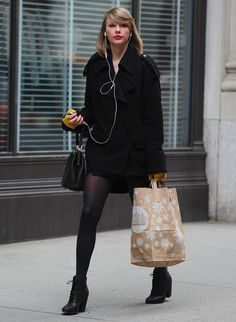 Spotted: Taylor Swift picks up a few treats from Whole Foods Market on March 25 in New York