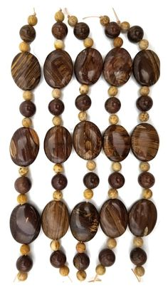 Individual Precious Stones Petrified Wood Cabochons for Jewellers and Silversmiths Round and Oval Gemstone Cabochons