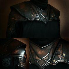 Shoulderguards of Kaer Morhen by Lynfir.deviantart.com on @DeviantArt | #Witcher #leatherwork #armour