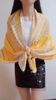 Ways To Tie Scarves, Ways To Wear A Scarf, How To Wear Scarves, Diy Fashion, Ideias Fashion, Fashion Outfits, Fashion Tips, Fashion Styles, Street Fashion