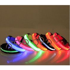 Nylon LED Pet Dog Cat Collar Night Safety Light Flashing Glow In The Dark Dogs Luminous Fluorescent Collars Pet Accessories Nylons, Dog Name Tags, Led Dog Collar, Dog Socks, Puppy Collars, Pet Safe, Dog Costumes, Dog Leash, Dog Supplies