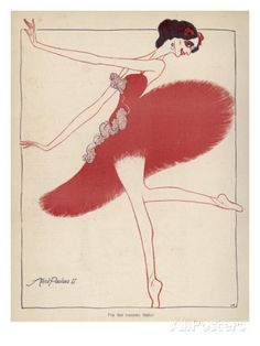 Anna Pavlova Russian Ballet Dancer: a Satirical View in a Danish Magazine