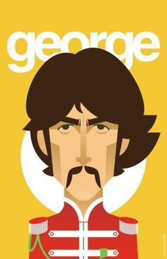 I'm Luzia, I love George Harrison a long time, and Beatles too. Ringo Starr, George Harrison, Festa Yellow Submarine, John Lennon Paul Mccartney, Beatles Art, Beatles Poster, Rock Poster, Chor, The Fab Four