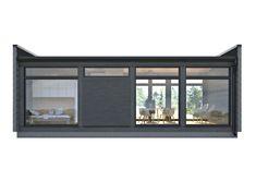 Kontio Glass House -huvilat yhdistävät tyylikkäästi hirren ja lasin / Kontio Window Panels, Glass Panels, Modern Glass House, Tiny House Loft, Modern Prefab Homes, Small Windows, Double Doors, Modern Architecture, Interior And Exterior