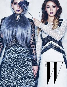 Cl no editorial Hello Witches para a W Korea