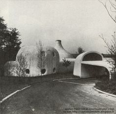 honey rider — rrrick: House Verley by Pierre Szekely, 1971 Architecture Arc, Organic Architecture, Gaudi, Modern Playground, Architecture Organique, Dome House, France Photos, Building Art, Googie