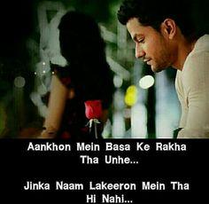 Aankhon mein base ke rakha tha unhe..jinka naam lakeeron mein tha hi nahi😢