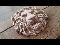 Lion`s head with CNC. Голова льва на ЧПУ - YouTube