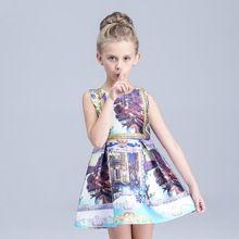 Girls Summer Dress 2016 Designer Baby Girls Dress Brand Cotton Princess Dress for Kids Girls Clothes Flower Children Clothing(China (Mainland))