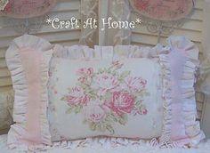 Pink rose pillow