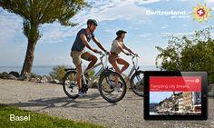 MySwitzerland iPad App Creative Advertising, City Break, Switzerland, Bicycle, Ipad App, Travel, Nice Asses, Photo Illustration, Bike