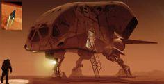 concept ships: Mars lander concept art from Last Days on Mars