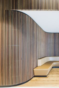 Gallery of Timber Click-on Battens - 3 Gallery of Timber Cladding – Click-on Battens - 2 Timber Battens, Timber Walls, Curved Walls, Timber Cladding, Wall Cladding, Timber Fencing, Curved Wood, Grey Walls, Interior Cladding