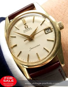 Serviced Omega Seamaster Automatic Automatik Vintage #omega #omegawatches #omegaseamaster #seamaster Luxury Watches, Rolex Watches, Omega Seamaster Automatic, Vintage Omega, Vintage Watches, Gold Watch, Omega Watch, Accessories, Fancy Watches