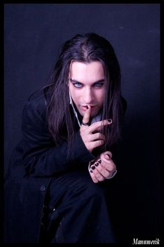 Lawrence Brown- An apprentice turned Vampire Vampire Love, Gothic Vampire, Gothic Men, Gothic Culture, Goth Guys, Goth Beauty, Black Beauty, Gothic Fashion, Male Models