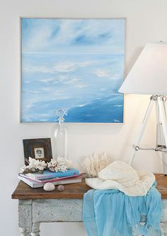 Add a touch of beach chic to your home with this wonderful DIY seaside artwork